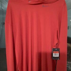 Nike hoodie shirt very nice nwt tiger woods red!!!